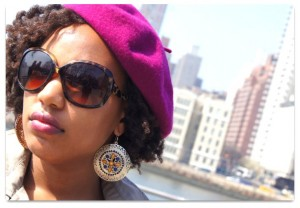 beret on natural hair