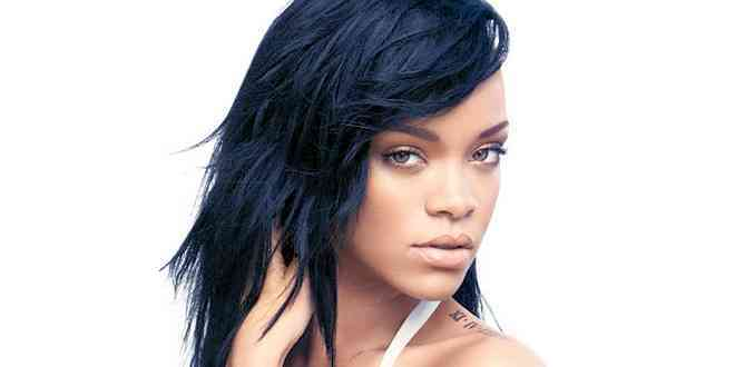 Rihanna-Blue-Black-Hair - Rihanna-Blue-Black-Hair