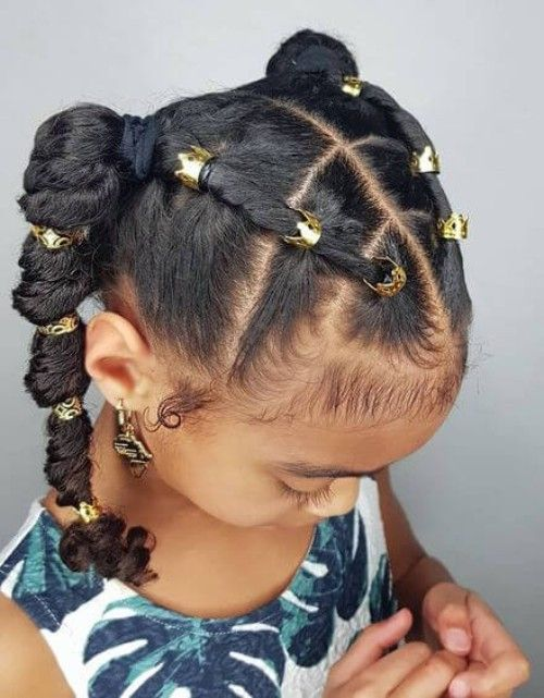 10 Heat Free Kids Natural Hairstyles for Easter - TGIN