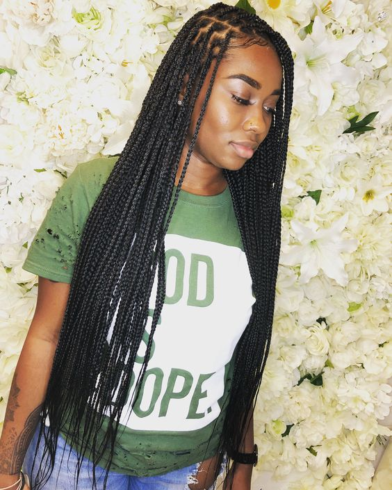 Natural Hair Trend Alert Knotless Box Braids Tgin
