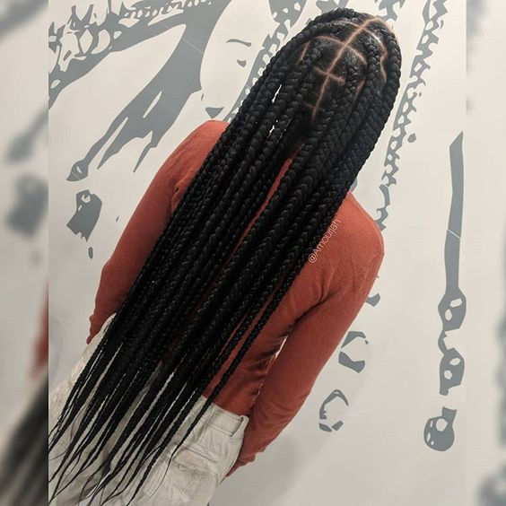 Natural Hair Trend Alert Knotless Box Braids , TGIN